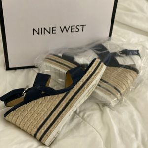 Nine West Dark Blue Wedge 9